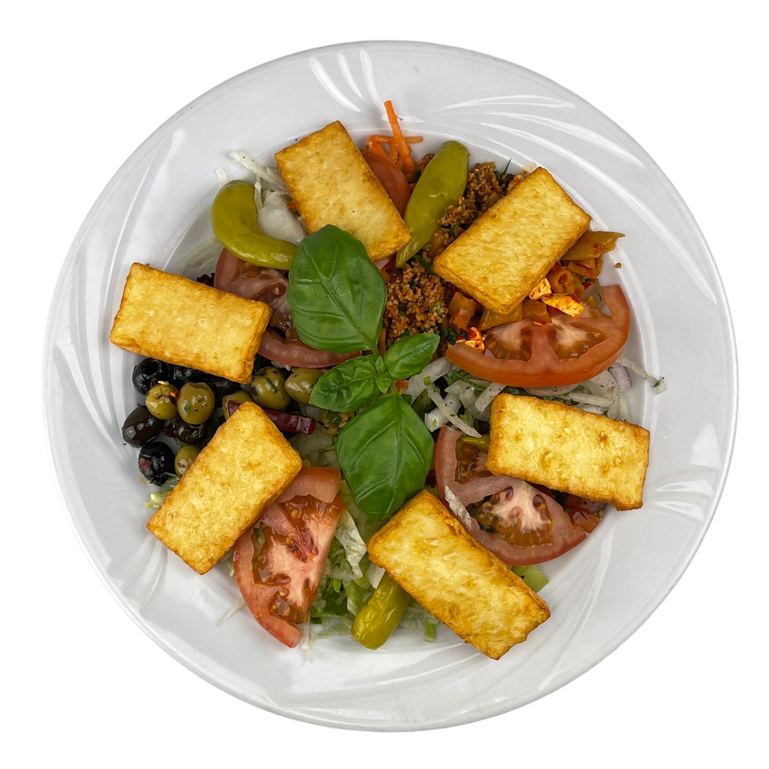 Halloumi Teller mit Salat