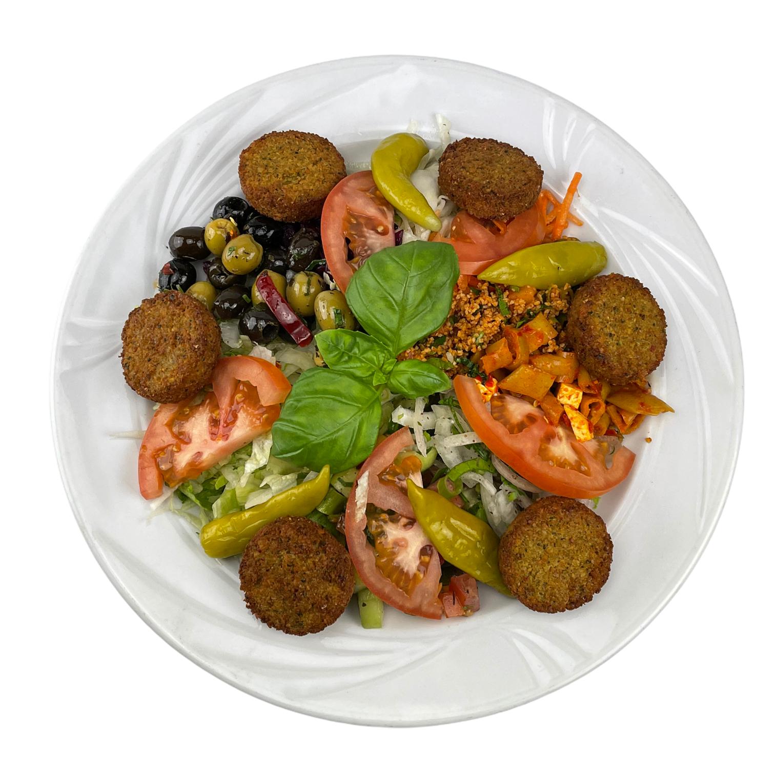 Falafel Teller mit Salat